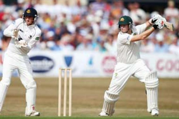 Steven Smith scored an unbeaten 98 to power Australia to 354 for 5 in a warm-up match against Sussex. Smith smashed 15 boundaries in his knock. (Getty Images)