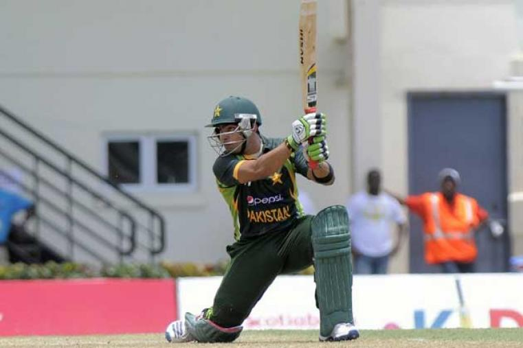 In the later stage of the innings, Umar Akmla scored a quick fire unbeaten 40 off 31 balls ably supported by Wahab Riaz (19*) as Pakistan posted 229 for 6 in the 50 overs.  (AFP Images)