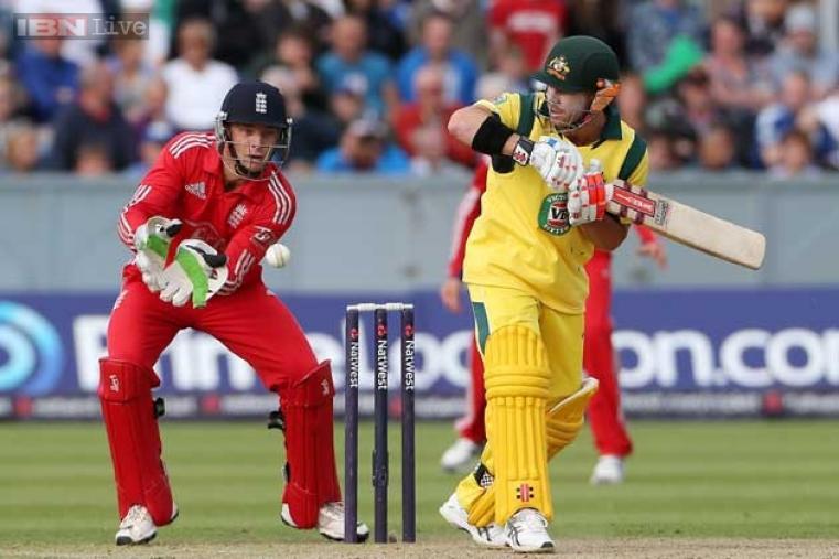 David Warner was the top scorer for Australia with 53 runs off 42 balls. (AFP Photo)