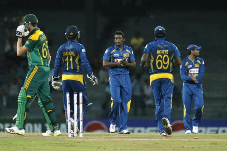 The hosts bundled out Proteas for 179, registering a 128-run victory and sealing the series 4-1. Ajantha Mendis took 3 for 36 in his nine overs. (AP Images)