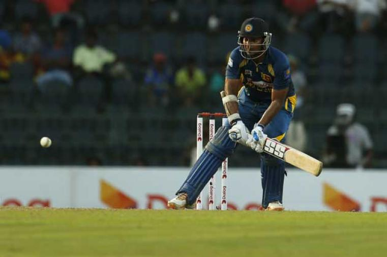 Kumar Sangakkara then accelerated in death overs scoring 71 not out as Sri Lanka posted 307 for 4 in their 50 overs. (AP Images)