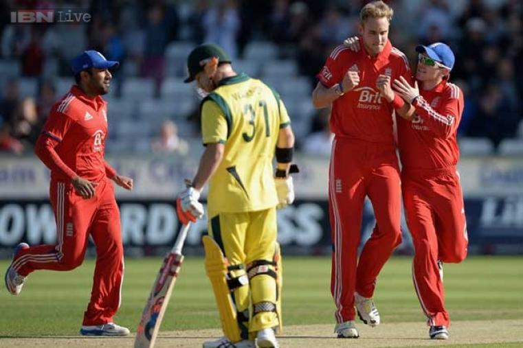 Last match's star Aaron Finch was dismissed by Stuart Broad for just five runs. (AFP Photo)