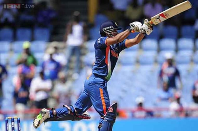 At the 2010 World Twenty20, Suresh Raina became the first Indian and third batsman to score a T20I century. His 60-ball 101 set up a 14-run win over South Africa. (Getty Images)