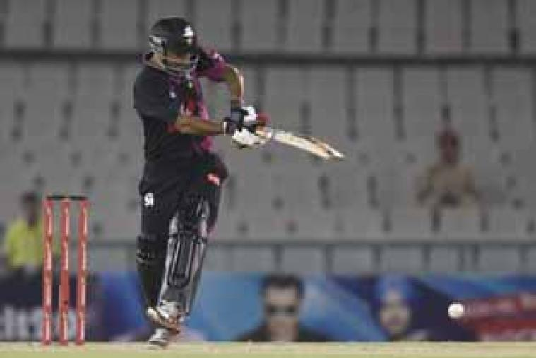 Ammar Mahmood made 31 before getting out to Darren Sammy. (CLT20.com)