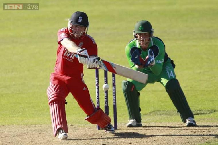 Eoin Morgan was not out at 124 and had a record partnership with Ravi Bopara as England beat Ireland by six wickets. (AP Photo)