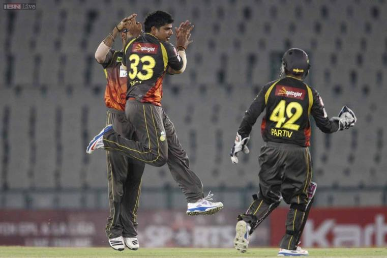 Karan Sharma was brilliant with his leg spin along with Amit Mishra as both the spinners got one wicket each. (CLT20.com)