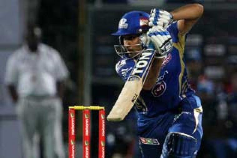 Mumbai Indians' captain Rohit Sharma rescued his team from an early stutter with a 37-ball 44.