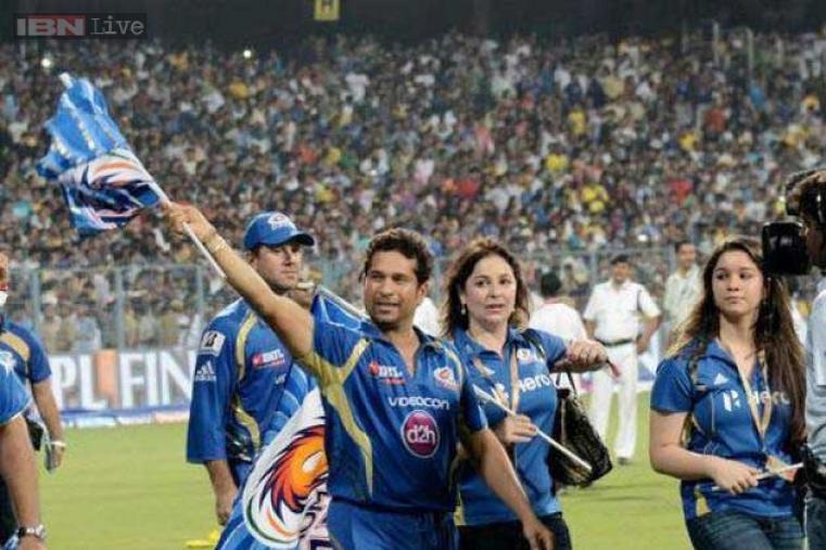Tendulkar announced his IPL retirement after Mumbai Indians won the title in 2013, beating Chennai Super Kings by 23 runs in the final played at Eden Gardens, Kolkata. (PTI)
