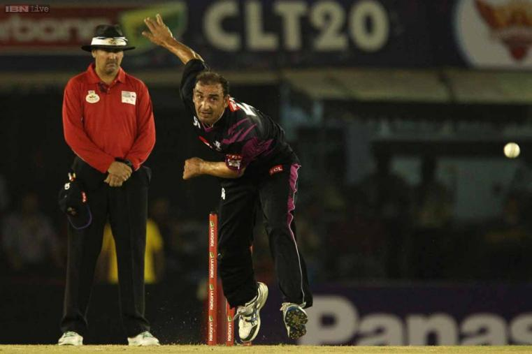 Samiullah Khan was expensive in his four overs, giving away 36 runs. (CLT20.com)