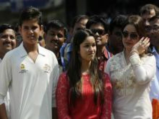 Sara, Arjun and Anjali joined Team India in their lap of honour, as Virat Kohli and MS Dhoni lifted Sachin on their shoulders. (BCCI)
