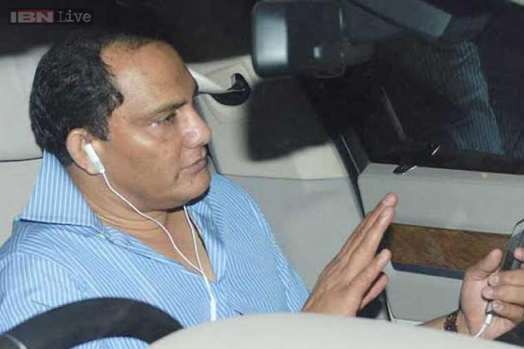 Former India captain Mohd Azharuddin comes to attend the party.