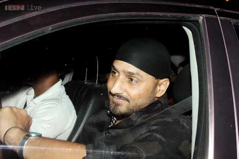 Indian spinner Harbhajan Singh, who was not part of Sachin's farewell series at Wankhede stadium is seen arriving.