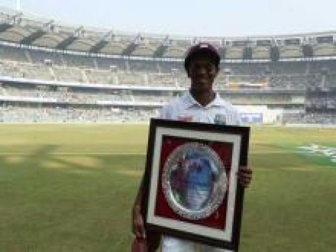 Sachin Tendulkar's 200th Test was the 150th for West Indies' talisman Shivnarine Chanderpaul, who was also felicitated before the start of the match. (BCCI)