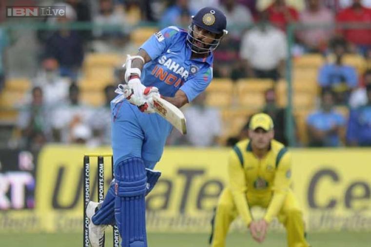 Shikhar Dhawan made 60 runs off 57 balls before falling to Doherty. (BCCI)