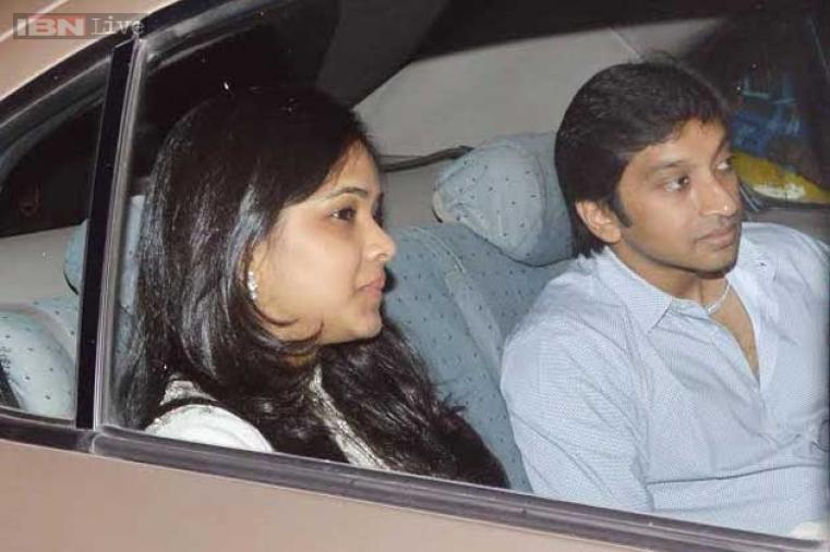 India's Formula One driver Narain Karthikeyan is also seen at the venue.