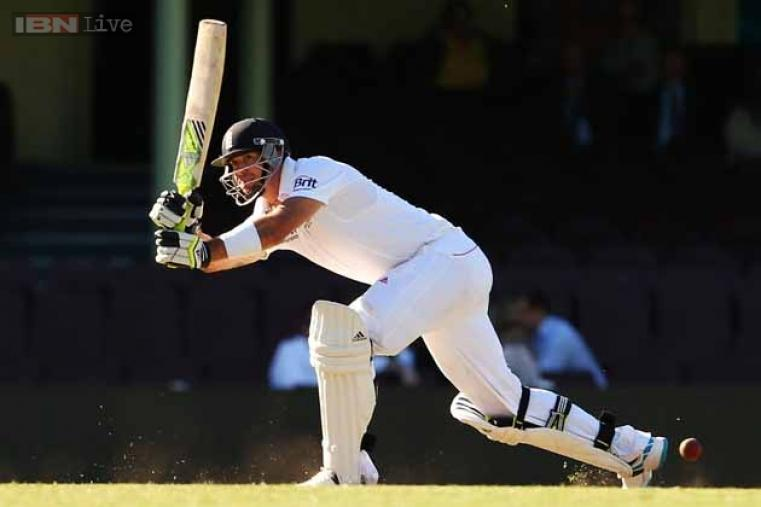 Kevin Pietersen of England bats during their tour match against the CA Invitational XI on November 14.