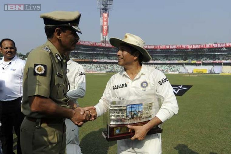 Tendulkar was felicitated before the start of the match, which marked the start of the match and the festivities along with it.