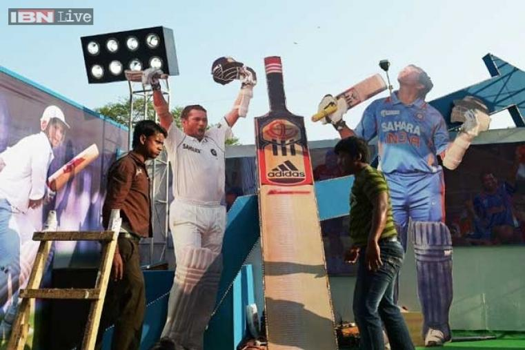 CAB made sure that the Eden Gardens bathed in Sachin mania with his cut-outs place everywhere to give the fans a special feeling.