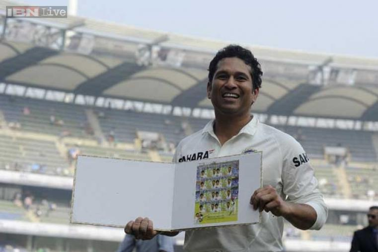 A stamp commemorating Sachin's contribution to cricket was released on November 14.