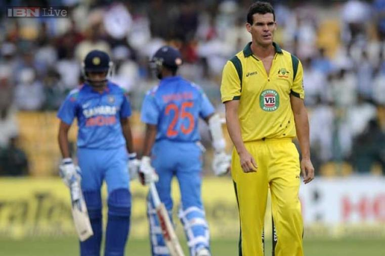 Clint McKay was the most expensive bowler for Australia with the figures of 89 for 1 in 10 overs. (BCCI)