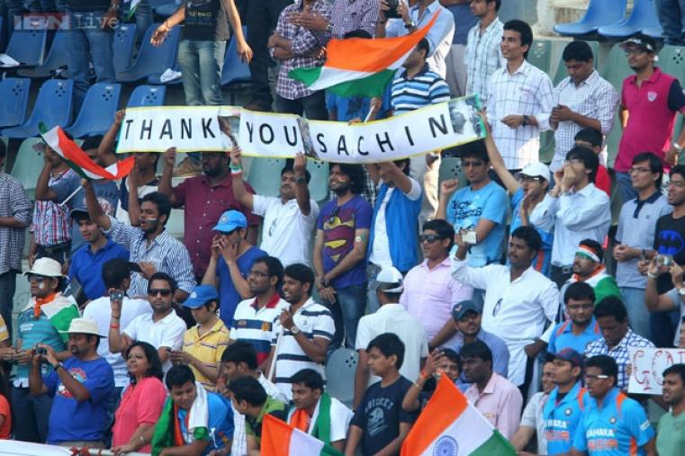 Fans thronged the Wankhede Stadium to show their love for Sachin Tendulkar and tell him how much he  will be missed.