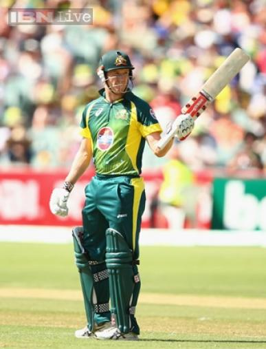 After Australia were reduced to 64/4, George Bailey came to their rescue with a knock of 56.