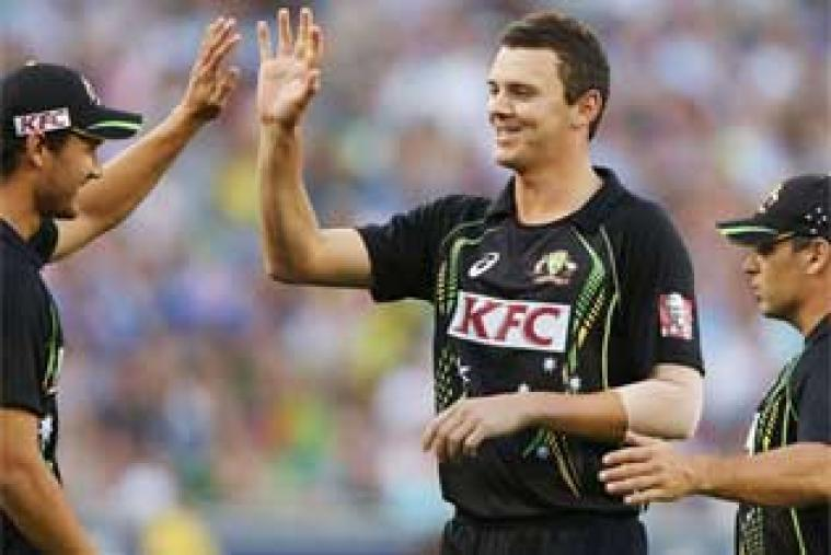 Josh Hazlewood was the pick of the bowlers for Australia with an astonishing figure of 30 for 4 against England at Melbourne Cricket Ground. Australia restricted England at 130 in 20 overs.