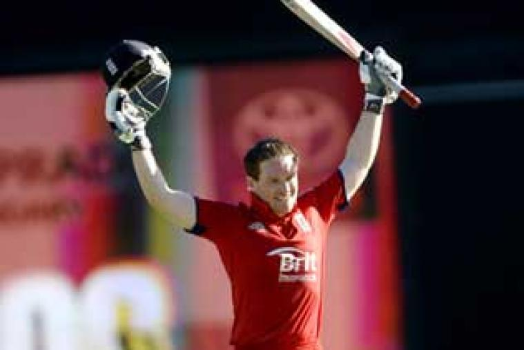 Eoin Morgan's sixth ODI century powered England to 300 for eight against Australia in the second ODI at Brisbane.