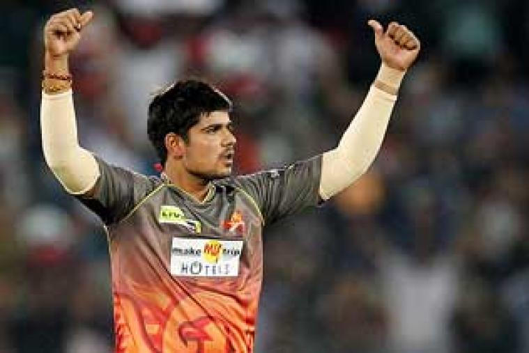 The Railways allrounder Karan Sharma hit the jackpot at the IPL 7 players' auction, becoming the costliest buy among the uncapped players by fetching a startling Rs 3.75 crore deal with Sunrisers Hyderabad.
