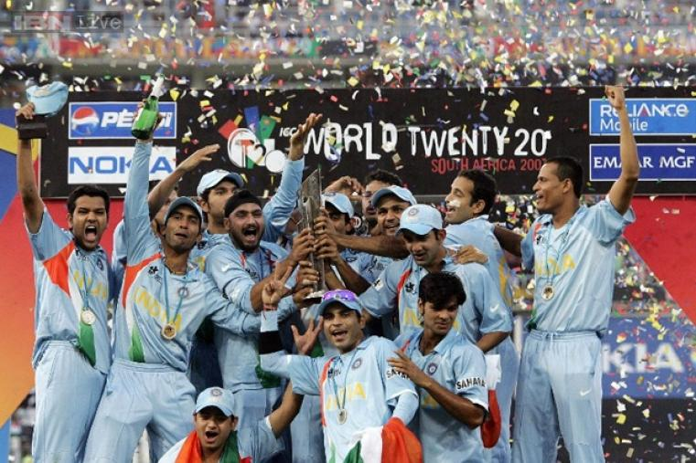 India beat Pakistan in an epic final at the Wanderers in Johannesburg on September 24, 2007, to win the inaugural trophy.