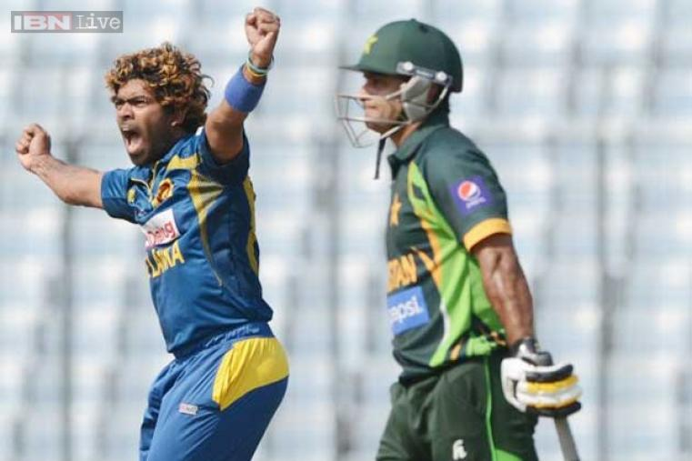 Mohammad Hafeez scored just three runs before being dismissed by Malinga.