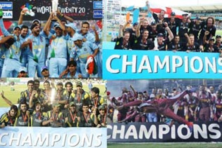 MS Dhoni's young and fearless team won the inaugural edition in 2007, followed by Pakistan (2009), England (2010) and West Indies (2012).