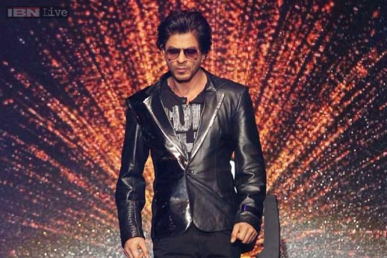 Shah Rukh Khan, who also co-owns the Kolkata Knight Riders' franchise, performs in front of a stunning background.