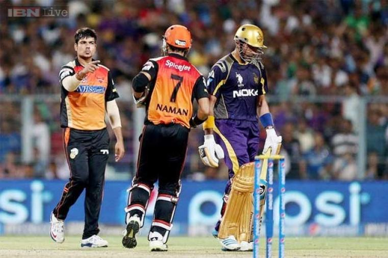 Karn Sharma was the wrecker-in-chief for Sunrisers Hyderabad as he bagged three wickets in his spell.