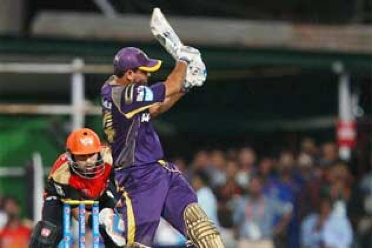A phenomenal knock from Yusuf Pathan, who blasted his way to a 22-ball 72, catapulted Kolkata Knight Riders to the second-place in the point table as the hosts hammered Sunrisers Hyderabad by four wickets in Kolkata on Saturday.