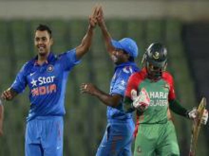 Stuart Binny's 6 for 4 was best figures for an Indian in the 50-over format as Bangladesh equalled their lowest ODI total.