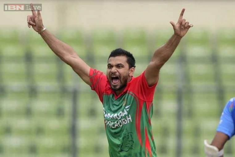 Mashrafe Mortaza claimed two wickets in his spell.