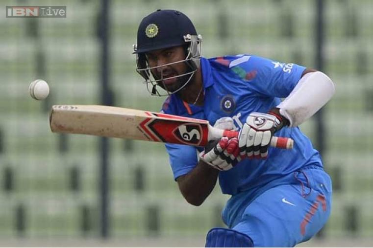 Chesteshwar Pujara was the top-scorer for India with 27 runs off 63 balls.