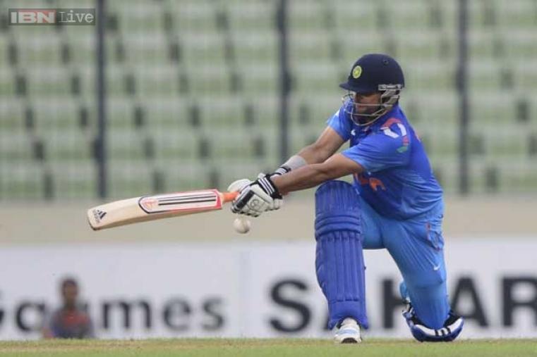 Skipper Raina's 25 runs off 25 balls gave support to a shaky India.