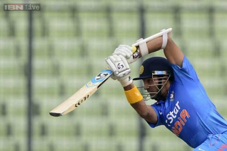 Robin Uthappa scored 14 off 24 balls before being dismissed by Taskin Ahmed.