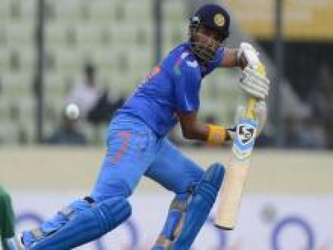 Robin Uthappa during his knock against Bangladesh. He scored 50 from 44 balls.