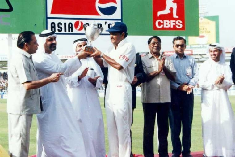Pepsi Asia Cup 1995 Final: India vs Sri Lanka in United Arab Emirates India won by 8 wickets (Image Credit: Asian Cricket Council)
