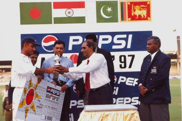 Pepsi Asia Cup 1997 Final: Sri Lanka v India in Colombo Sri Lanka won by 8 wickets (Image Credit: Asian Cricket Council)