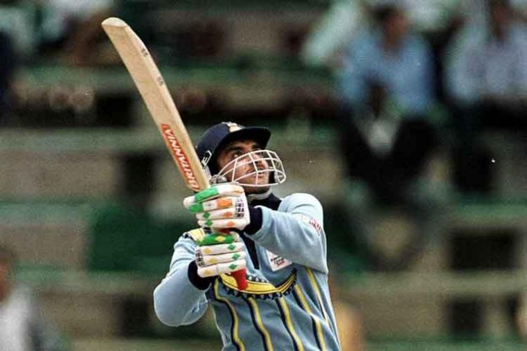 Sourav Ganguly scored 135* off 124 balls vs Bangladesh in Dhaka in 2000. India won by 8 wickets with 59 balls remaining. (Getty Images)