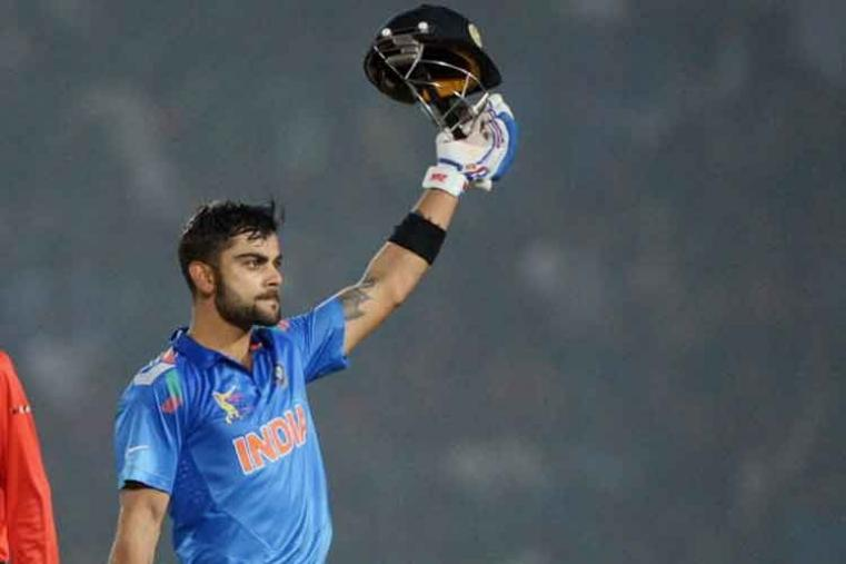 Virat Kohli scored 136 off 122 balls vs Bangladesh in Fatullah in 2014. India won by 6 wickets with 6 balls remaining. (Getty Images)