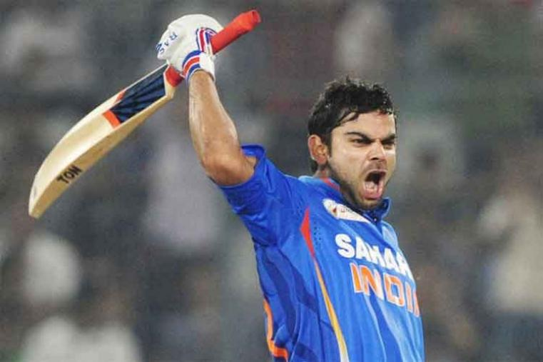 Virat Kohli scored 183 off 148 balls vs Pakistan in Dhaka in 2012. India won by 6 wickets with 13 balls remaining. (AFP Photo)