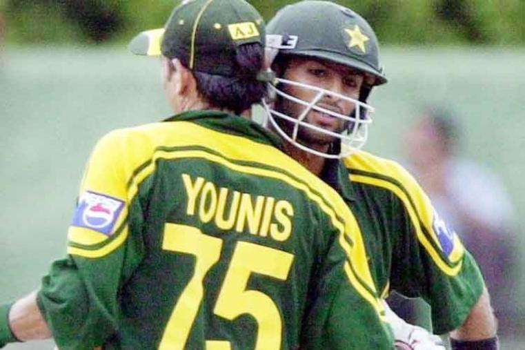 Shoaib Malik scored 143 off 127 balls vs India in Colombo in 2004. Pakistan won by 59 runs. (Getty Images)