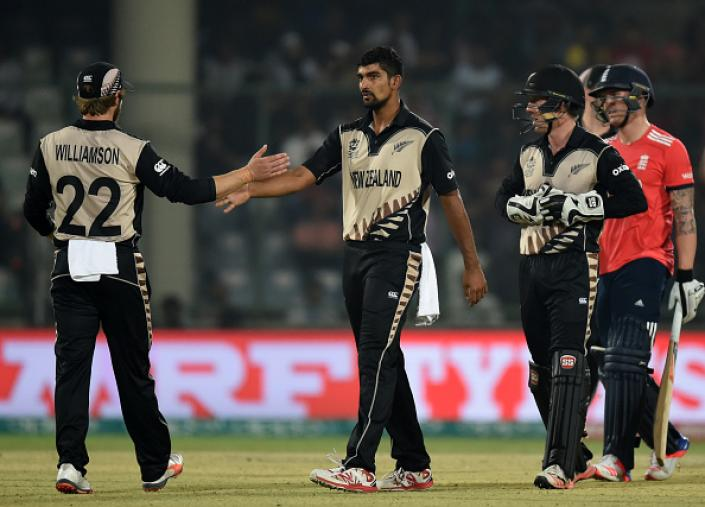 New Zealand spinner Ish Sodhi dismissed Jason Roy (78) and Eoin Morgan on consecutive deliveries but it was too late for them to make a comeback. (Getty Images)