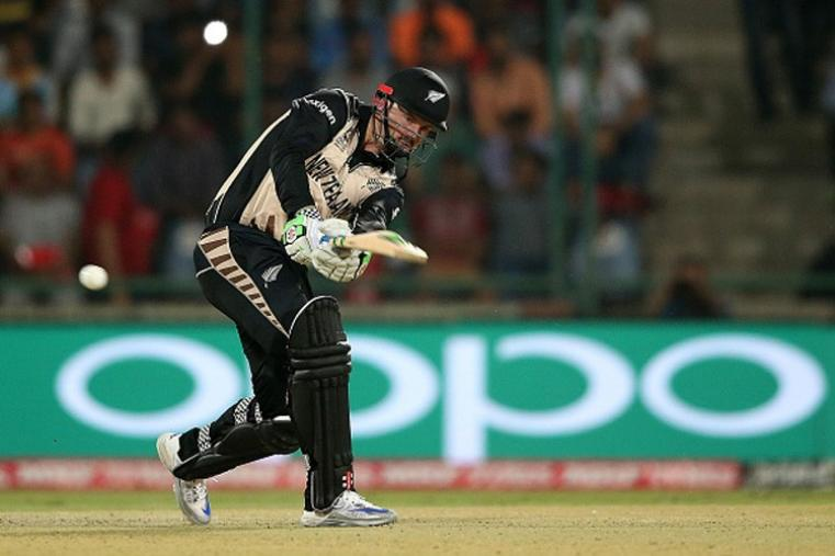 Colin Munro scored a brilliant 46 off 32 balls and had a solid stand with Kane Williamson before falling to Liam Plunkett. (Getty Images)
