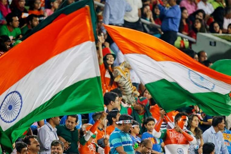 India fans cheering for their team during the Asia Cup final. (AP Photo)